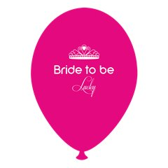 Baloane latex fuchsia pentru burlacite - Bride to Be Lucky, Radar GI.BTBL.F