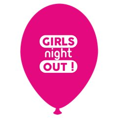 Girls Night Out Printed Latex Balloons, Radar GI.GNO.F