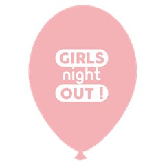 Baloane latex roz pentru burlacite - Girls Night Out, Radar GI.GNO.PINK