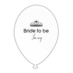 Bride to Be I'm Sexy Printed Latex Balloons, Radar GI.BTBIS.WBK