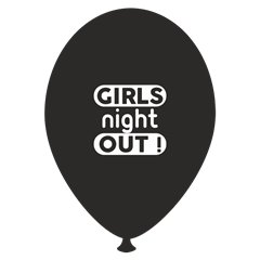 Girls Night Out Printed Latex Balloons, Radar GI.GNO.BK