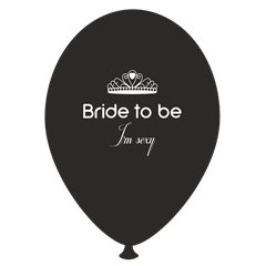 Bride to Be I'm Sexy Printed Latex Balloons, Radar GI.BTBIS.BK