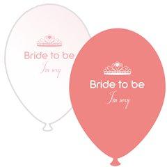 Baloane latex asortate pentru burlacite - Bride to Be I'm Sexy, Radar GI.BTBIS.SOMON/WH