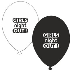 Baloane latex asortate pentru burlacite - Girls Night Out, Radar GI.GNO.BK/WH