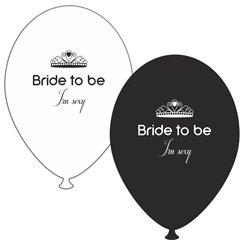 Baloane latex asortate pentru burlacite - Bride to Be I'm Sexy, Radar GI.BTBIS.BK/WH