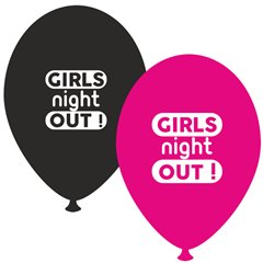 Baloane latex asortate pentru burlacite - Girls Night Out, Radar GI.GNO.BK/FUCHSIA