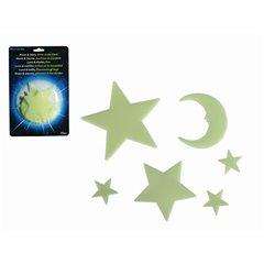 Stele si luna fosforescente pentru decorarea incaperii, Radar OT90/1002, Set 15buc