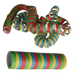 Serpentine multicolore pentru decor petreceri - 4m, Radar 62/0970, Set 3 buc