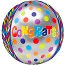 Orbz Congrats Congratulations Foil Balloon, 40 cm, Amscan 28373, 1 piece