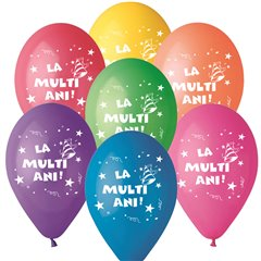 """La multi ani!"" Printed Latex Balloons, Radar GI.LMA.T2"