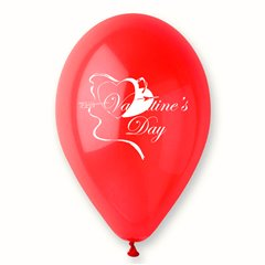 "Baloane latex rosii inscriptionate ""Valentine's Day"", Radar GI.LOVE.RED.T2"