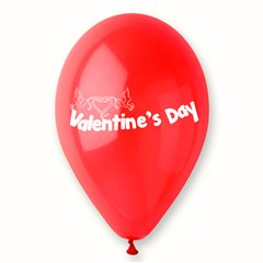 """Latex Balloons Printed with """"Valentine's Day"""", Radar GI.LOVE.RED.T1"""