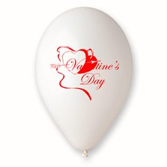 """Latex Balloons Printed with """"Valentine's Day"""", Radar GI.LOVE.WH.T2"""