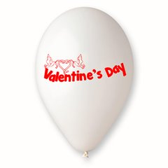 """Latex Balloons Printed with """"Valentine's Day"""", Radar GI.LOVE.WH.T1"""