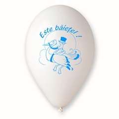 "Latex Balloons Printed with ""Este Baietel"", Radar GI.EB.T2"