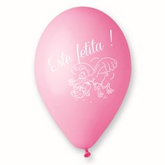 "Latex Balloons Printed with ""Este Fetita"", Radar GI.EF"