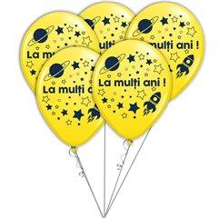 Buchet din baloane latex asortate La multi ani, Radar BB.GI.LMA.ASTRO.YELLOW