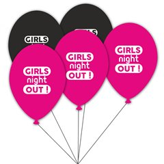 Buchet din baloane latex asortate Girls Night Out, Radar BB.GI.GNO.BK/FUCHSIA