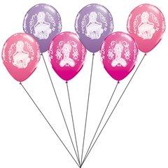 Buchet din baloane latex asortate Sofia the First cu heliu, Qualatex BB.Q19234