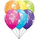 Buchet din baloane latex asortate Ice Cream cu heliu, Qualatex BB.Q44797