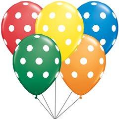 Big Polka dots assorted Latex balloons bouquet, Qualatex BB.Q17316
