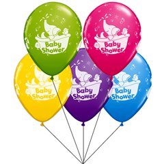 Baby Shower assorted Latex balloons bouquet, Qualatex BB.Q18508