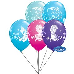 Frozen assorted Latex balloons bouquet, Qualatex BB.Q18675