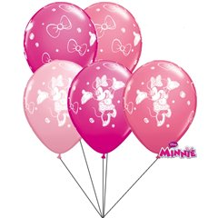Minnie Mouse assorted Latex balloons bouquet, Qualatex Q18685