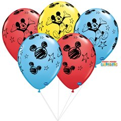 Buchet din baloane latex asortate Mickey Mouse, Qualatex BB.Q18688