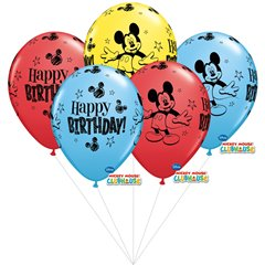 Mickey Mouse assorted Latex balloons bouquet, Qualatex BB.Q18704