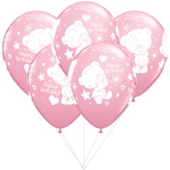 Me to You pink Latex balloons bouquet, Qualatex BB 12562