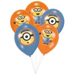 Buchet din baloane latex asortate Minioni cu heliu, Amscan BB.A999222