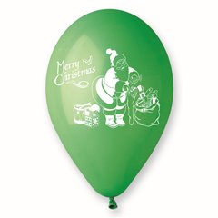 Baloane latex verzi inscriptionate Merry Christmas, Radar GI.XMAS.GREEN.T2