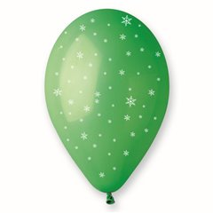 Baloane latex verzi inscriptionate cu fulgi de nea, Radar GIC.XMAS.GREEN.T3
