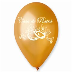 "Baloane latex sidefate gold inscriptionate ""Casa de Piatra"", Radar GMI.CP.GOLD"