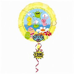 Balon folie muzical Happy Easter - 80cm, Amscan 15267-05