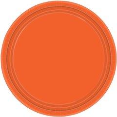 Orange Peel Plastic Plates - 18cm, Amscan 552284-05, Pack of 10 pieces