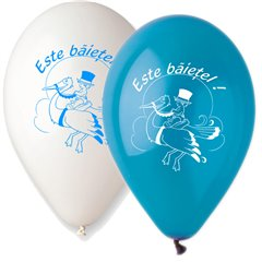 "Latex Balloons Printed with ""Este Baietel"" - 10""/26cm, Radar GI.EB"