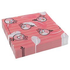 Pink Angry Birds Luncheon Napkins - 33 cm, Amscan RM552545, Pack of 20 pieces