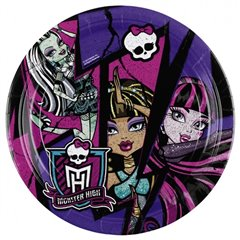 Farfurii petrecere copii 18 cm Monster High 2 , Amscan RM552512, Set 8 buc
