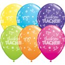 "Baloane latex 11"" inscriptionate Thank You Teacher, Qualatex 13951, Set 25 buc"