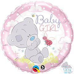 "Baby Girl Foil Balloon - 18""/45cm, Qualatex 28170"