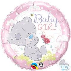 "Baby Girl Foil Balloon - 18""/45cm, Qualatex 28170"