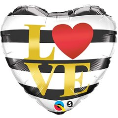 "Balon folie 45cm inima ""Love"", Qualatex 21748"