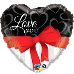 Balon folie 45cm Love You, Qualatex 21647