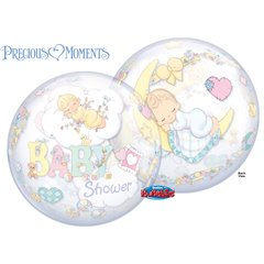"Precious Moments Baby Shower Bubble Balloon - 22"", Qualatex 27567"