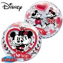"Balon Bubble 22""/56cm Mickey & Minnie - ""I love you"", Qualatex 21892"