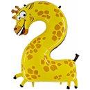 Balon Folie Figurina Cifra Doi - Girafa,102 cm, Radar GB42-0W