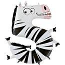 Balon Folie Figurina Cifra Cinci - Zebra,102 cm, Radar GB45-0W