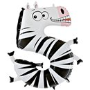 Number 5 Zebra Supershape Foil Balloon - 102 cm, Radar GB45-0W